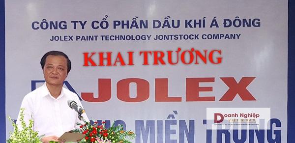Ông Nguyễn Đức Diệp, Chủ tịch HĐQT Công ty CP TM & SX Lưu Nguyễn JOBECO phát biểu tại lễ khai trương.