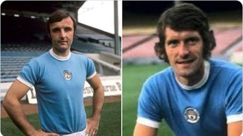 Hai người ông Mike Doyle và Glyn Pardoe của Tommy thời còn khoác áo Man City