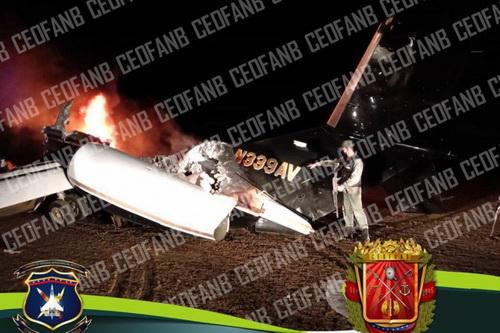 Mảnh xác chiến máy bay bị Không quân Venezuela tuyên bố bắn rơi. Ảnh: Avia-pro.