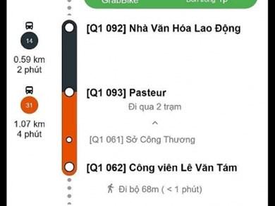 Ra mắt ứng dụng kết nối giao thông công cộng với dịch vụ Grab