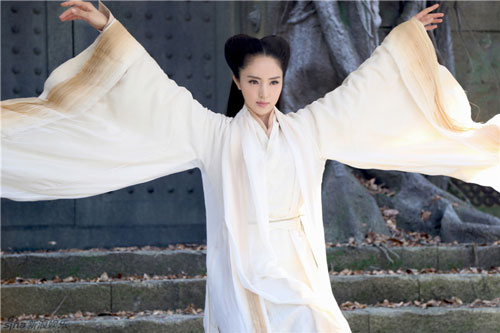 Tạo hình Lâm Triều Anh - chưởng môn phái Cổ Mộ trong phim.
