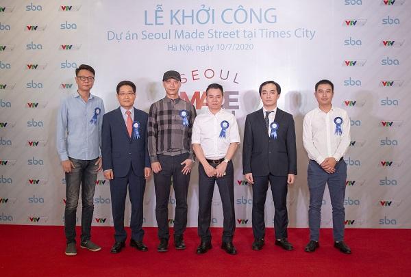 Ông Hoàng Ngọc Huấn, Chủ tịch HĐQT – VTVcab tham dự cùng đại diện Công ty Cổ phần Yeosim – VTVcab tại lễ khởi công.