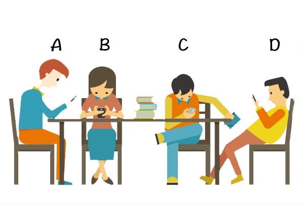 Bạn thường ngồi ở tư thế giống với đối tượng nào?