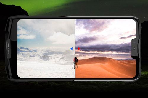 Tấm nền màn hình sử dụng trên Doogee S90C là loại IPS LCD kích thước 6,18 inch, độ phân giải Full HD Plus (2.246x1.080 pixel), mật độ điểm ảnh 403 ppi. Màn hình này chiếm 82,6% diện tích mặt trước, bảo vệ bởi kính cường lực Corning Gorilla Glass 4, có thể sử dụng khi bị ướt, mang găng tay.