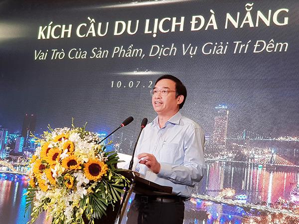 Phó Chủ tịch UBND TP Đà Nẵng Lê Trung Chinh phát biểu tại buổi tọa đàm