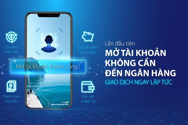 Ngân hàng Bản Việt là ngân hàng đầu tiên triển khai tiện ích Mở tài khoản thanh toán không cần phải đến ngân hàng và khách hàng có thể giao dịch tài chính được ngay lập tức.
