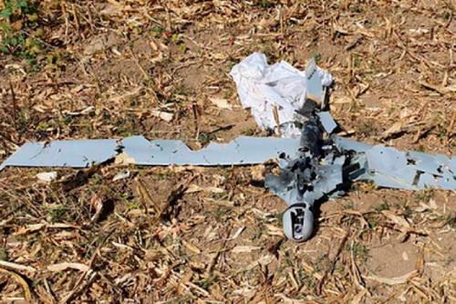 Máy bay không người lái do Israel chế tạo bị phòng không Armenia bắn hạ. Ảnh: TASS.