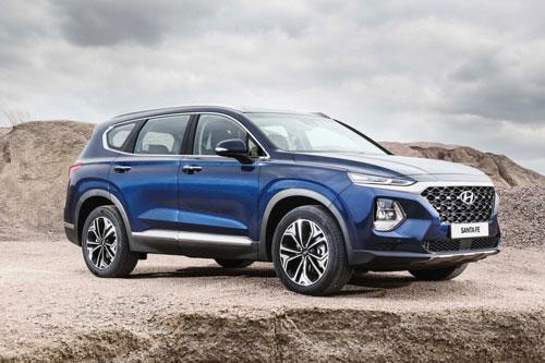 10. Hyundai Santa Fe (doanh số: 3.629 chiếc).