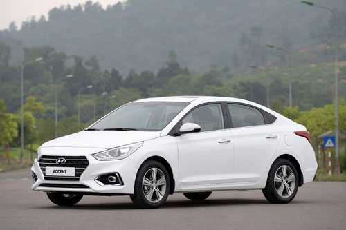 2. Hyundai Accent (doanh số: 7.349 chiếc).