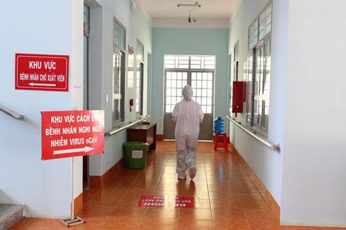 Khu vực điều trị bệnh nhân mắc bạch hầu tại Trung tâm Y tế huyện Cư M'gar.