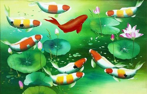 Tranh cá chép giúp hút tài lộc