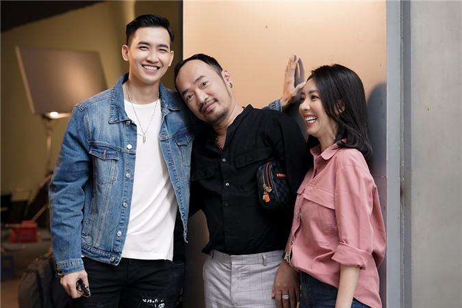 Vợ chồng Tiến Luật - Thu Trang (phải) kỳ vọng Võ Cảnh sẽ trở thành điểm nhấn cho phim.