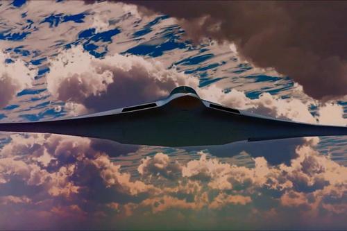 Đồ họa máy bay ném bom chiến lược PAK DA của Nga. Ảnh: RIA Novosti.