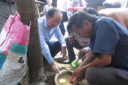 Kiểm tra công tác phòng, chống sốt xuất huyết tại huyện Tuy An (Phú Yên).