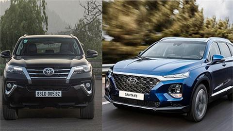 SUV 7 chỗ tháng 6/2020: Hyundai Santa Fe, Toyota Fortuner vững vàng trên đỉnh