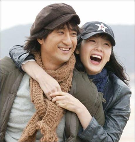 Shin Hyun Joon và Choi Ji Woo khi đóng Nấc thang lên thiên đường.