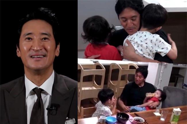 Shin Hyun Joon và hai con trong show thực tế.