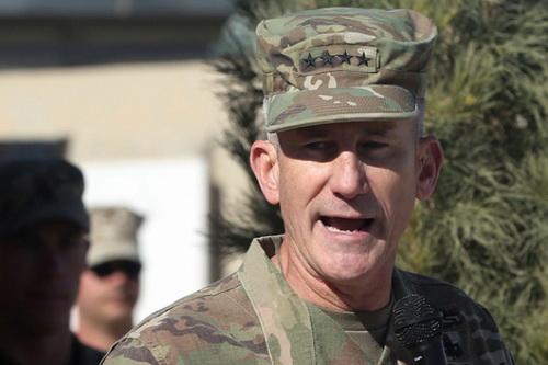 Đại tướng nghỉ hưu John Nicholson của Quân đội Mỹ đã đưa ra tuyên bố rất cứng rắn với Nga. Ảnh: Lenta.