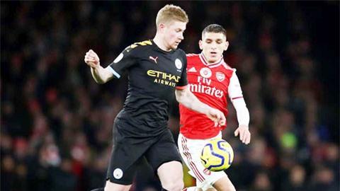 Arsenal vs Man City: De Bruyne là cơn ác mộng của Pháo thủ