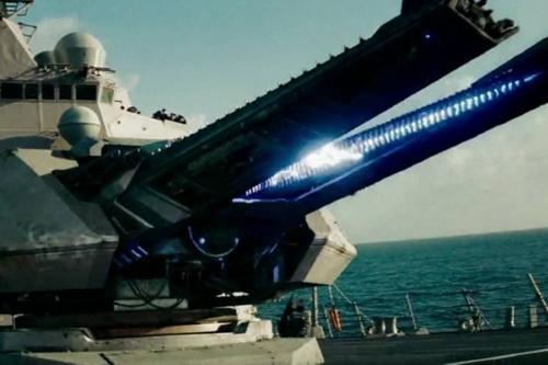 Đồ họa pháo điện từ gắn trên chiến hạm của Hải quân Mỹ. Ảnh: Avia-pro.