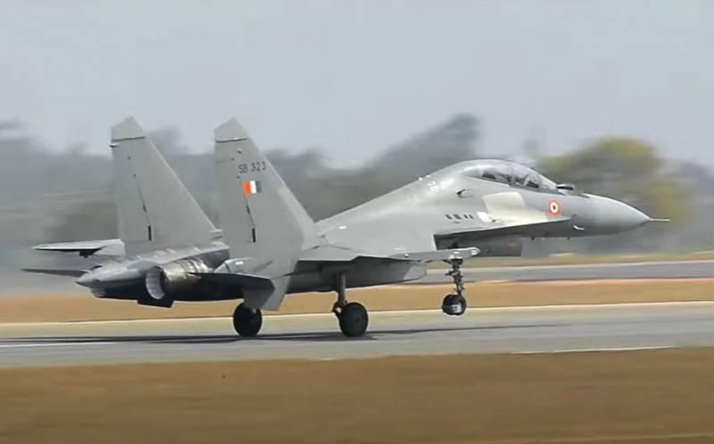 Tiêm kích Su-30MKI của Không quân Ấn Độ. Ảnh: Sohu.