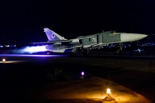Không quân Nga vừa tiến hành loạt vụ oanh tạc nhằm vào phiến quân nổi dậy. Ảnh: TASS.