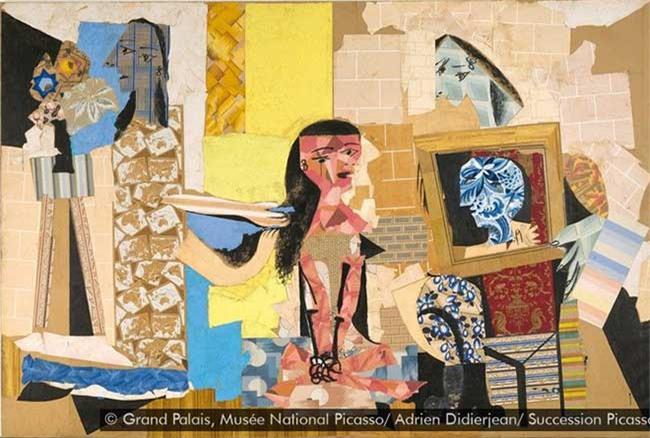 Kiệt tác cắt dán giấy Femmes à leur toilette của Picasso.
