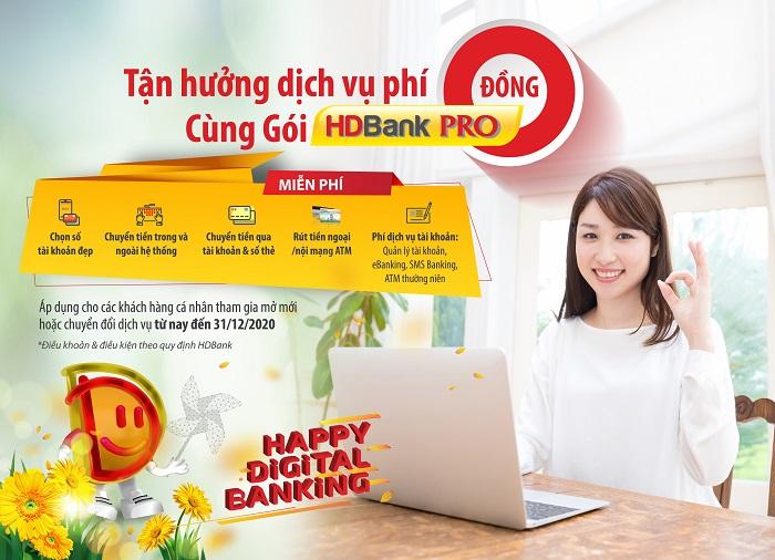 HDBank triển khai miễn giảm phí mạnh nhất từ trước đến nay, áp dụng cho nhiều dịch vụ khi khách hàng mở Tài khoản HDBank Pro
