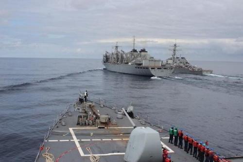 Hải quân NATO đang tiến hành cuộc tập trận ngay gần bán đảo Crimea. Ảnh: TASS.