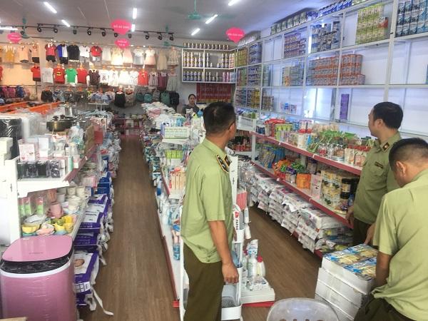 Tạm giữ 59 mặt hàng gồm 1.286 đơn vị hàng hóa có dấu hiệu nhập lậu tại Hệ thống cửa hàng mẹ và bé 333 Nguyễn Văn Linh, TP Hải Dương