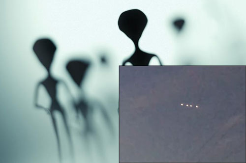 4 vật thể lạ phát sáng kỳ lạ trên bầu trời khiến nhiều người nghi ngờ đây có thể là các UFO.