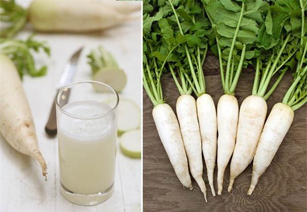 Củ cải trắng trị nhiệt miêng tốt