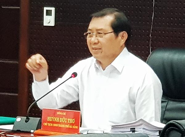 Chủ tịch UBND TP Đà Nẵng Huỳnh Đức Thơ cho haty, đến nay mọi hoạt động trên địa bàn TP vẫn diễn ra bình thường! (Ảnh: HC)
