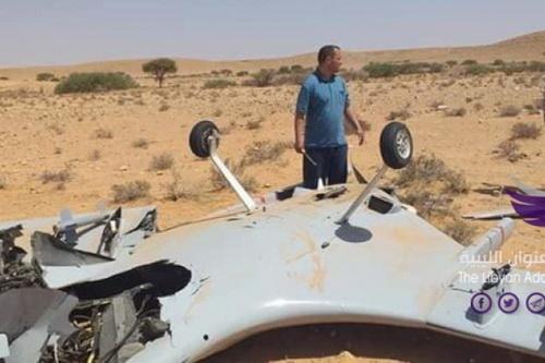 Máy bay không người lái Thổ Nhĩ Kỳ bị bắn hạ tại thành phố Sirte. Ảnh: Avia-pro.