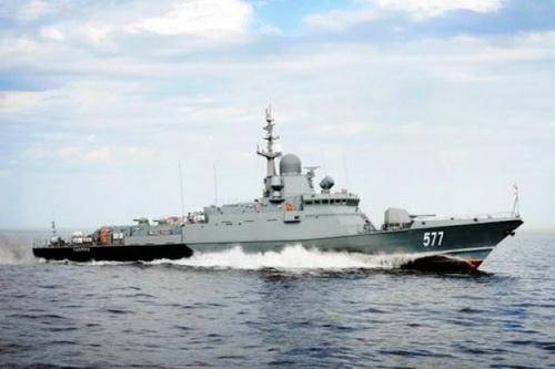 Tàu tên lửa cỡ nhỏ Karakurt - Dự án 22800 của Hải quân Nga. Ảnh: TASS.