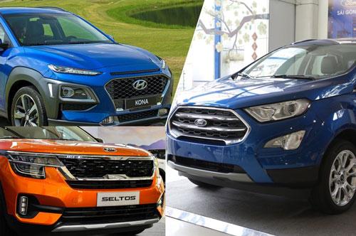 Hyundai Kona, Ford EcoSport và Kia Seltos.
