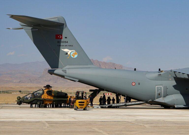 Trực thăng tấn công T129 ATAK của Thổ Nhĩ Kỳ đã có mặt tại Azerbaijan. Ảnh: Denfence Blog.