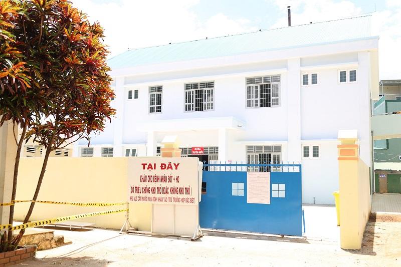Phong toả Khoa Truyền nhiễm, Bệnh viện Đa khoa vùng Tây Nguyên vì có liên quan đến bệnh nhân Covid-19 đầu tiên của tỉnh Đắk Lắk (Ảnh: Báo Đắk Lắk)