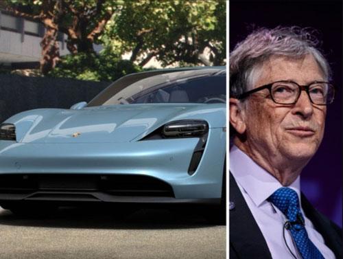 Bill Gates sở hữu một bộ sưu tập xe sang, bao gồm cả một số chiếc Porsches đắt tiền, trong đó có Porsche Taycan Turbo S đời mới giá 187.000 USD. Ảnh: The Economic Times.