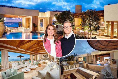 Nhà đồng sáng lập Microsoft Bill Gates từng là người giàu nhất thế giới trong nhiều năm. Hiện tỷ phú 64 tuổi đang ở vị trí thứ 2 với khối tài sản 113,7 tỷ USD. Gần đây, vợ chồng Bill Gates đã tậu một căn biệt thự biển xa xỉ ở San Diego, California với giá lên tới 43 triệu USD. Đây là căn nhà có giá giao dịch cao thứ 2 trong lịch sử San Diego. Ảnh: The Sun.