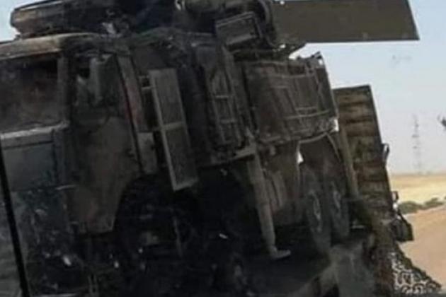 Một tổ hợp tên lửa - pháo phòng không tầm thấp Pantsir-S1 bị phá hủy tại chiến trường Libya. Ảnh: Defense Express.