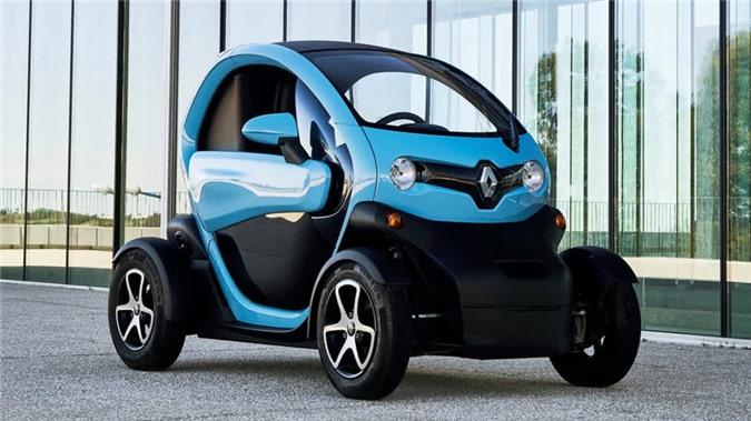 Renault Twizy 2012-2020 có ngoại hình hiện đại với trọng lượng khoảng 450kg.