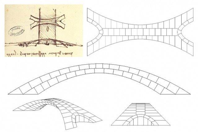 Thiết kế cây cầu đá thời Da Vinci