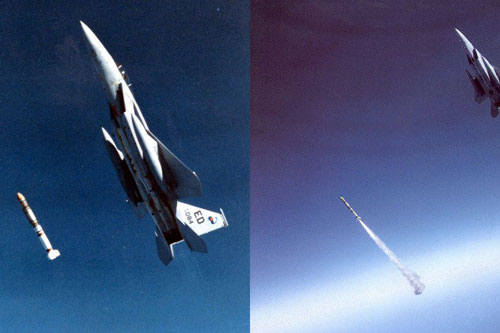 Một vụ thử vũ khí chống vệ tinh mà Mỹ thực hiện với tiêm kích F-15.
