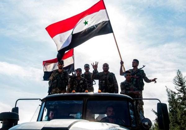 Quân đội chính phủ Syria đang đẩy mạnh hoạt động ở vùng Tây Bắc đất nước. Ảnh: Al Masdar News.