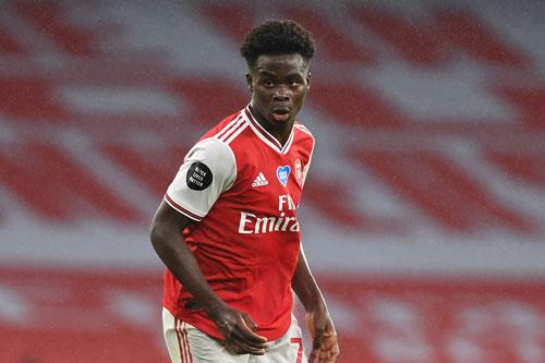 7. Bukayo Saka (Arsenal, giá trị chuyển nhượng hiện nay: 31,5 triệu bảng, mức tăng giá: 19,8 triệu bảng).