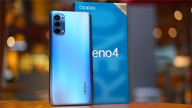 Oppo Reno4 được hoàn thiện bằng chất liệu vỏ nhựa nhưng đã được làm giả kính, dạng mờ với hiệu ứng đổi màu nhẹ nhàng cực kỳ bắt mắt.