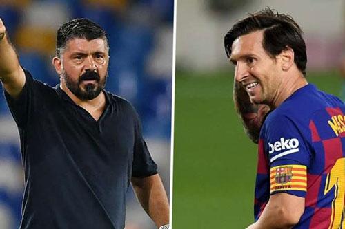 Gattuso và Messi.