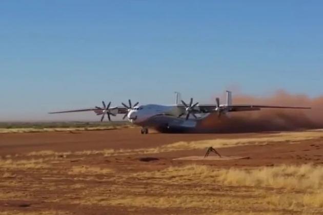 Máy bay vận tải cánh quạt hạng nặng An-22 Antey của Nga. Ảnh: Reporter.