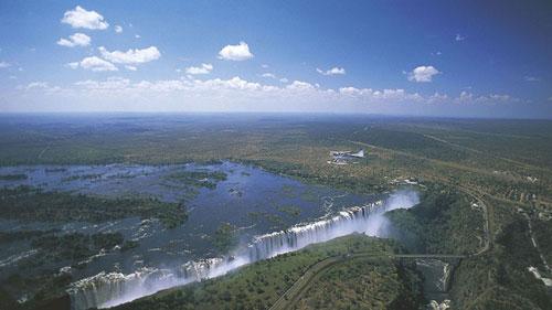 Thác Victoria trên sông Zambezi, Zimbabwe.